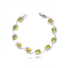 Браслет «Ундина» с желтыми циркониями