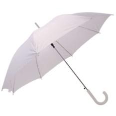 Белый полуавтоматический зонт-трость