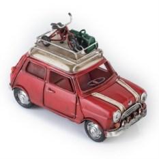 Модель ретро-автомобиля с фоторамкой и копилкой (красный)