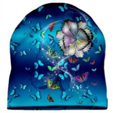 Шапка с 3D печатью Бабочки