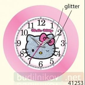 Детские настенные часы Hello Kitty (цвет розовый)