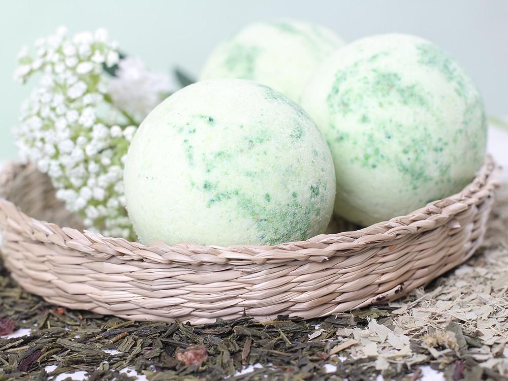 Бурлящие шарики для ванн с пеной Травяной сбор