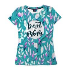 Женская футболка 3D Best mom