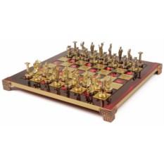 Металлический красный шахматный набор Греческая Мифология