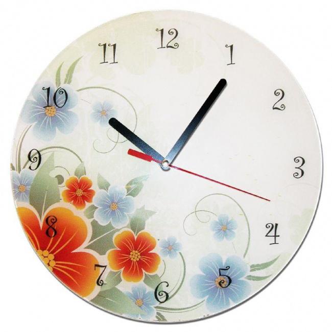 Часы «Цветы в пастельных тонах»