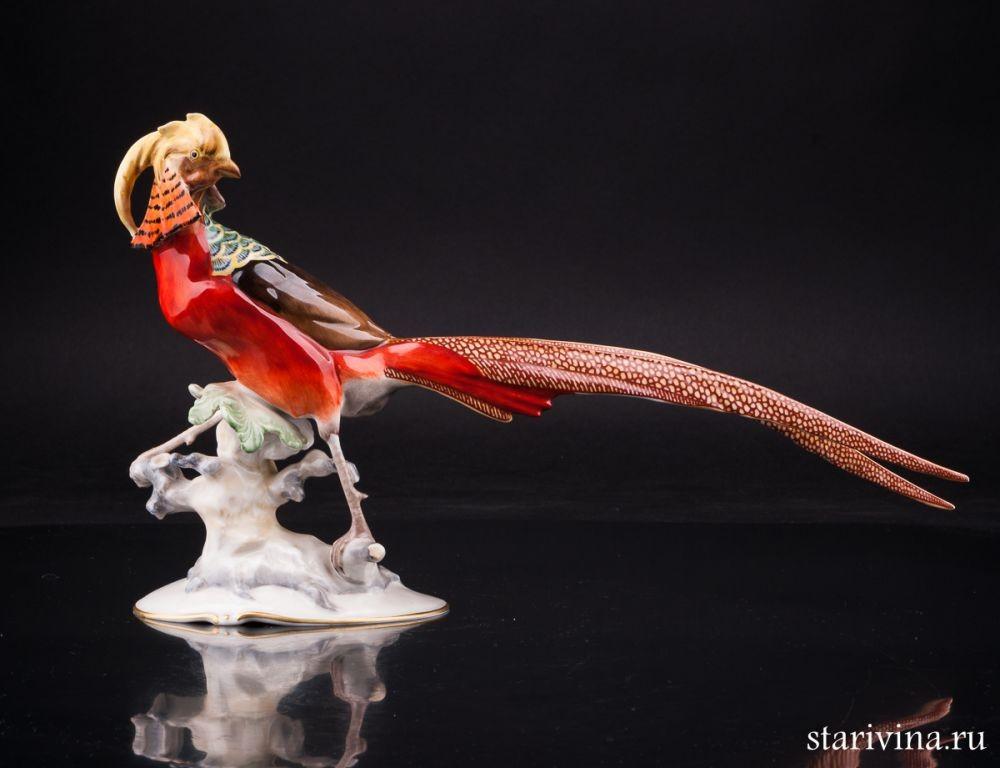 Фарфоровая статуэтка Золотой фазан