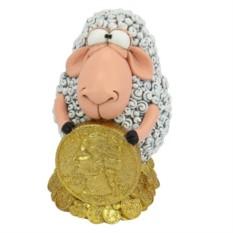 Копилка Овечка с монетой