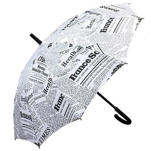 Купольный зонт-трость Газета