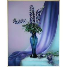 Картина с кристаллами Swarovski Натюрморт с цветами