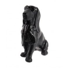 Черная декоративная фигурка Собака