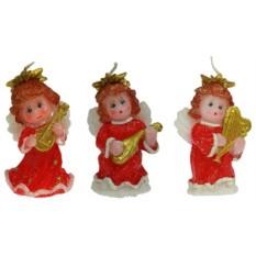 Новогодняя свеча Ангелочек с музыкальным инструментом