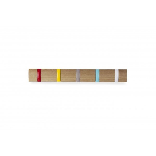 Настенная цветная горизонтальная вешалка Flip-5