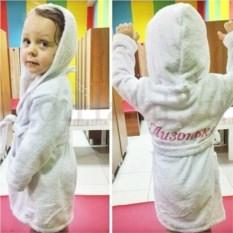 Детский именной халат с вышивкой