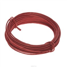 Проволока для рукоделия Folia, в бумажной оплетке, цвет: красный