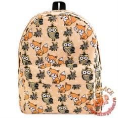 Светло-оранжевый рюкзак Лисы и совы