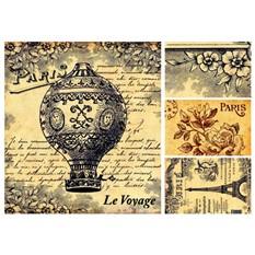 Рисовая карта для декупажа Париж 1, формат А3