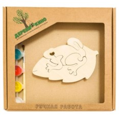 Развивающая игрушка Жабка на листке с красками