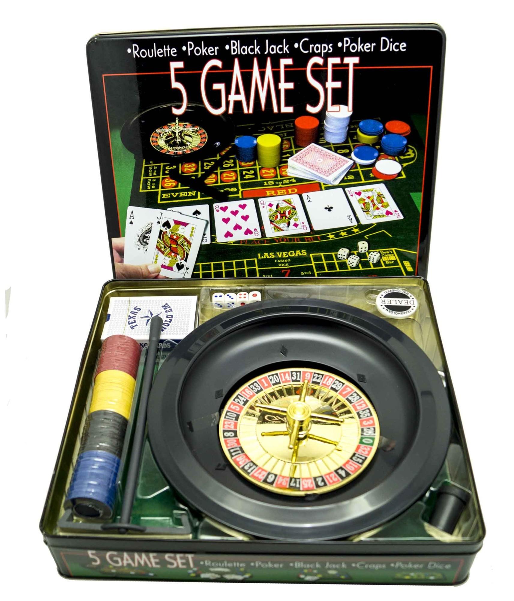 Набор игр 5 в 1 Азарт
