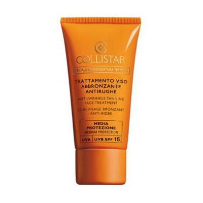 Крем солнцезащитный против морщин для лица SPF 15