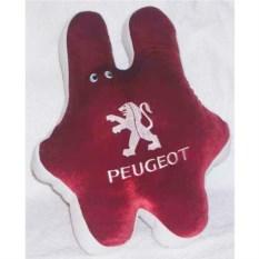 Красная подушка Peugeot (заяц)