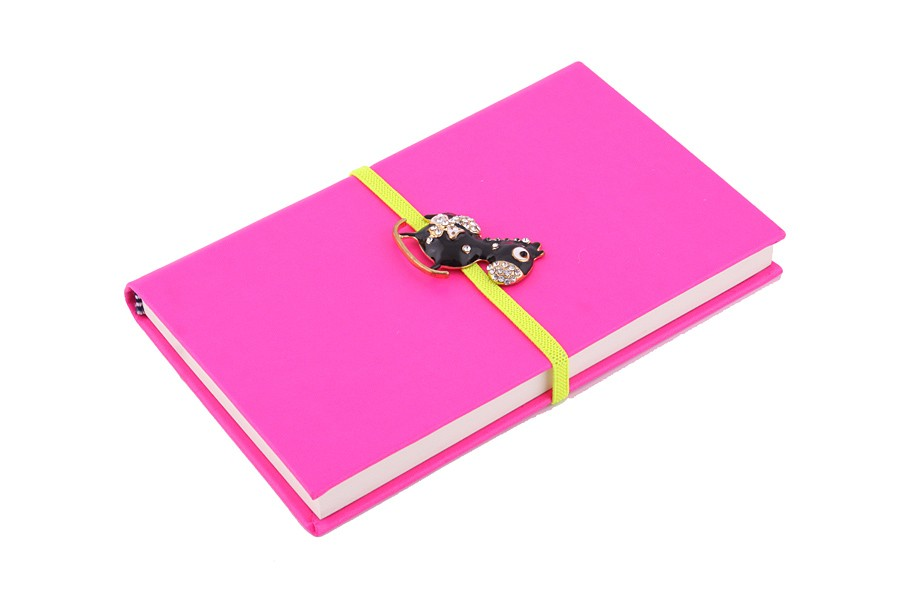 Ежедневник с украшением в виде лошадки, розовый