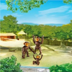 Конструктор Playmobil City Life Zoo Семья Шимпанзе