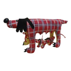 Прикольная подушка «Собака Глаша»