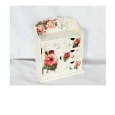 Шкатулка-комод для ювелирных украшений с цветами