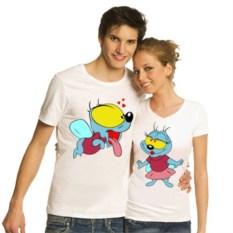 Парные футболки Вжик и подружка Вжика