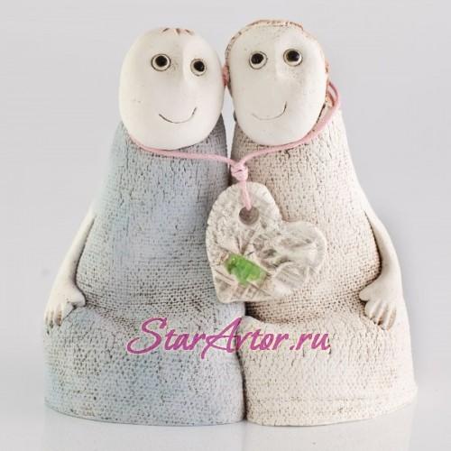 Авторские игрушки из керамики  Ангелочки Счастливый союз