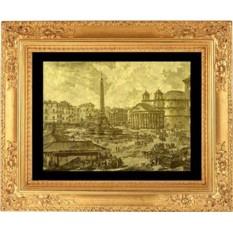 Гравюра из золота Площадь Ротонды