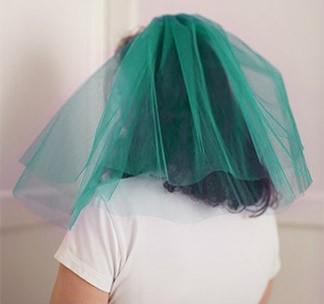 Зеленая фата для девичника