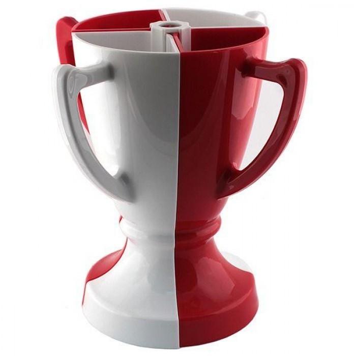 Бело-красный набор из 4 бокалов Кубок