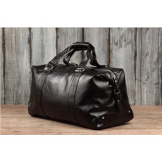 Черная кожаная дорожно-спортивная сумка Brialdi Newcastle
