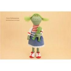 Авторская игрушка Куколка-Лягушка