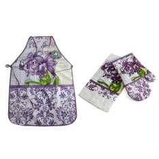 Набор кухонного текстиля: фартук, полотенце, варежка