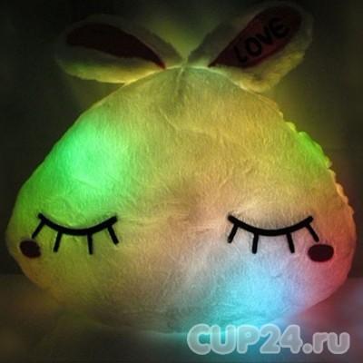 Светящаяся подушка «Спящий кролик»