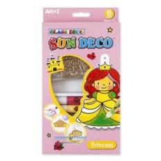 Детские витражные краски с мини-трафаретами «Принцесса»