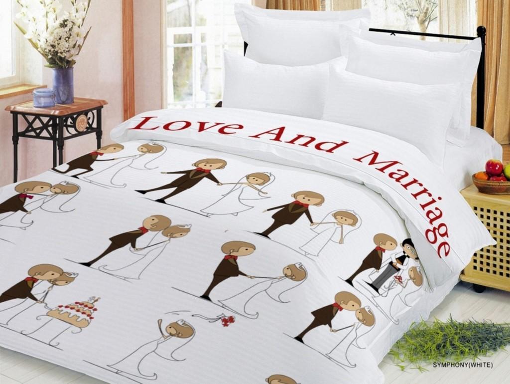 Комплект постельного белья Love & Marriage