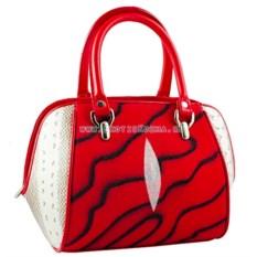 Женская сумка из кожи морского ската и водной змеи