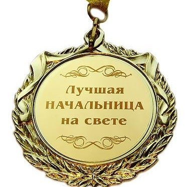 Медаль Лучшая начальница на свете