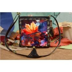 Женская сумка-планшет с принтом Осенний лист