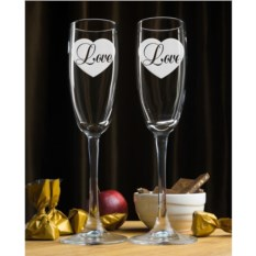 Именные фужеры для шампанского Love