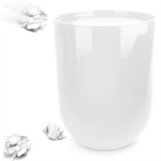 Белый контейнер для мусора с крышкой Step