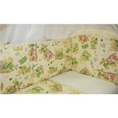 Детский постельный комплект с балдахином и бортиком