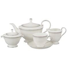 Белый фарфоровый чайный сервиз на 6 персон Lefard