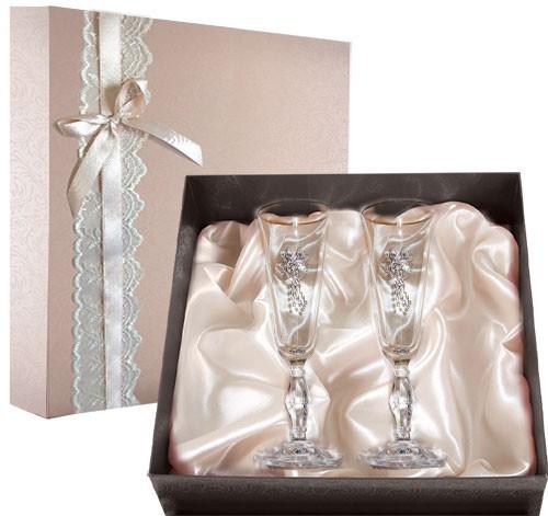 Набор свадебных бокалов Ретро №27 в подарочной коробке