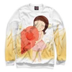 Женский свитшот Половинки сердца