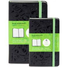 Черные записные книжки в линейку Moleskine Evernote
