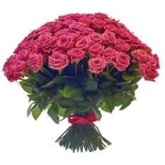 Букет из 101 розы сорта Аква высотой 40 см